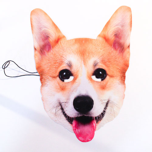 Royal Corgi Cardboard Face Mask