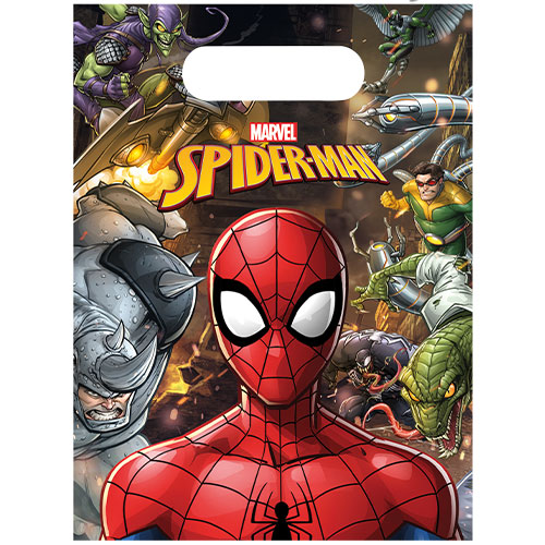Spider-Man Team Up Party Loot Bags - Pack of 6
