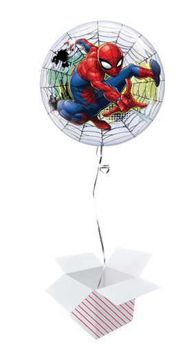 Spider-Man Web Bubble Helium Qualatex Balloon - Inflated Balloon in a Box Product Gallery Image