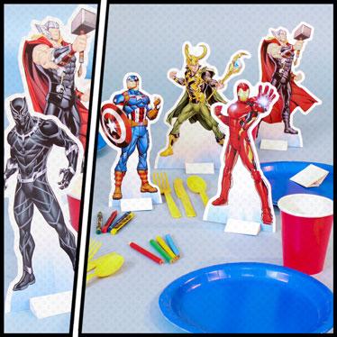 Superhero Table Decorations