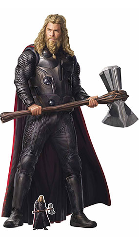 Thor Stormbreaker Avengers Endgame Lifesize Cardboard Cutout 194cm Product Gallery Image