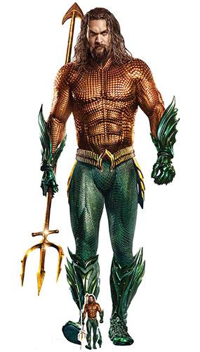 Aquaman Jason Momoa Lifesize Cardboard Cutout 194cm