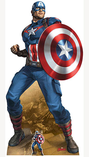 Avengers Captain America Mightiest Hero Lifesize Cardboard Cutout 184cm Product Gallery Image