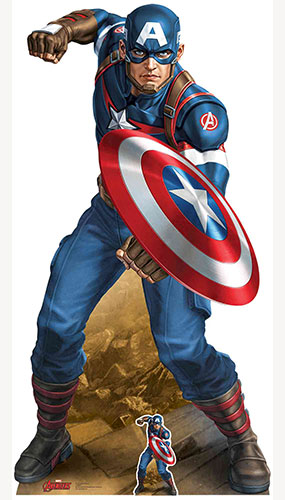 Avengers Captain America Vibranium Shield Lifesize Cardboard Cutout 183cm Product Gallery Image