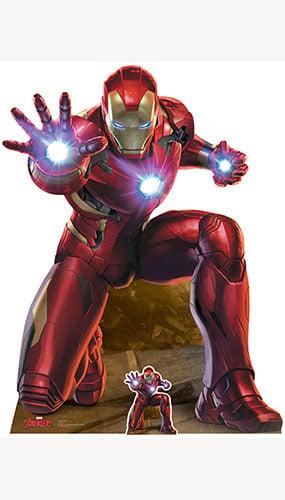Avengers Iron Man Repulsor Beam Blast Lifesize Cardboard Cutout 133cm Product Gallery Image