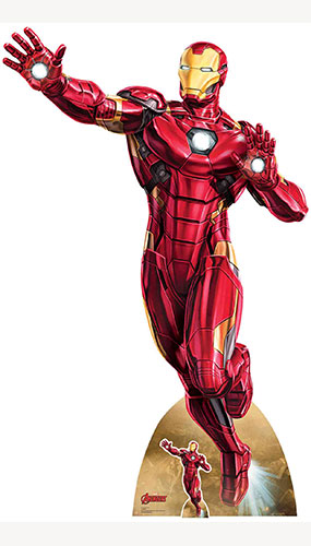 Avengers Iron Man Take Off Lifesize Cardboard Cutout 200cm Product Gallery Image