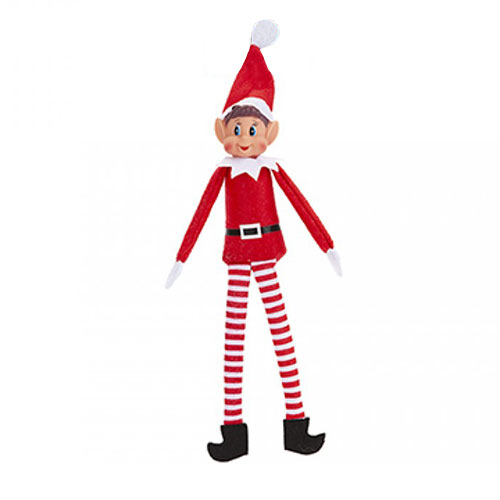 Christmas Long Leg Elf With Vinyl Face 30cm