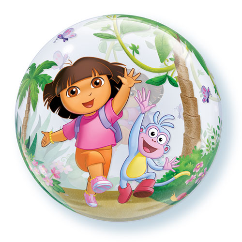 Dora The Explorer Bubble Helium Qualatex Balloon 56cm / 22 in Product Image
