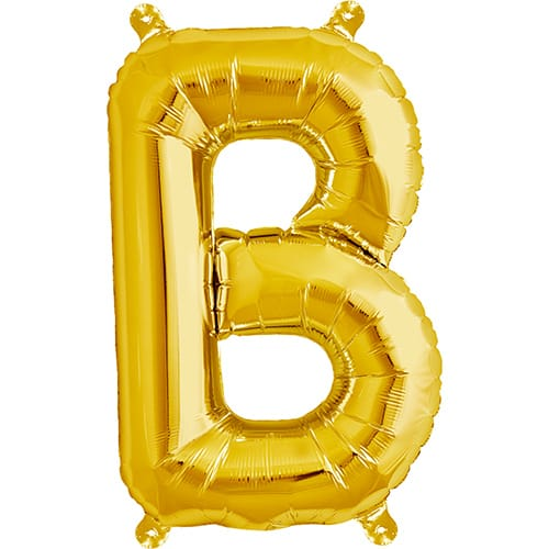 Letter B Gold Air Fill Foil Balloon 40cm / 16 in Product Image