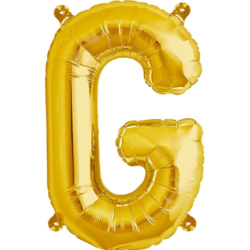 Letter G Gold Air Fill Foil Balloon 40cm / 16 in Product Image