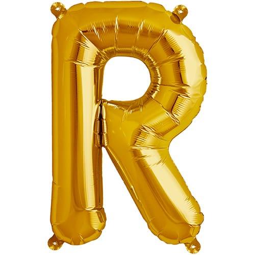 Letter E 40cm Gold Alphabet Air-Filled Foil Balloon
