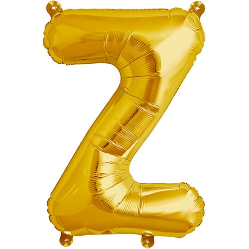 Letter Z Gold Air Fill Foil Balloon 40cm / 16 in     Product Image
