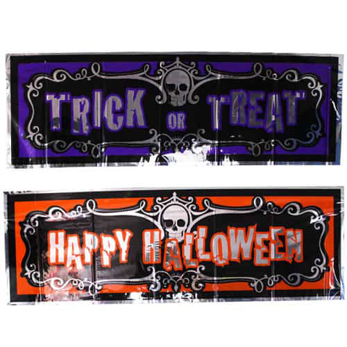 Halloween Assorted Foil Banners 90cm - Pack of 2