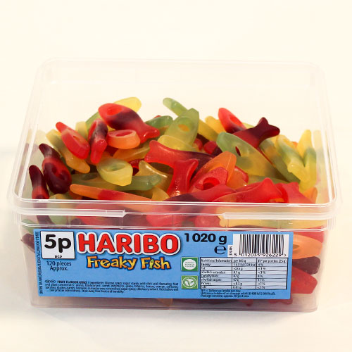 Haribo Freaky Fish Fruit Flavour Jelly Sweets - Pack of 120