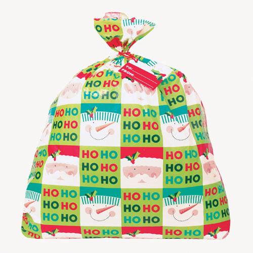 Ho Ho Ho Christmas Jumbo Plastic Gift Bag 111cm