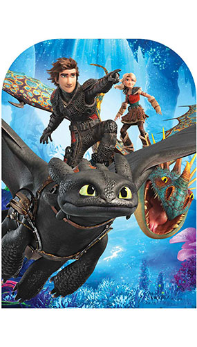 How to Train Your Dragon 3 Toothless Hiccup Stormfly Astrid Stand In Lifesize Cardboard Cutout 130cm Product Gallery Image