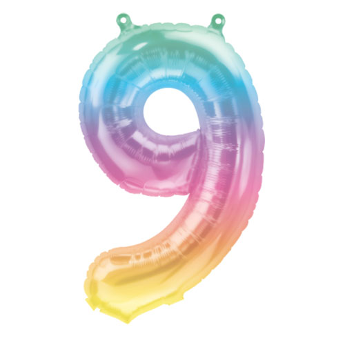 Jelli Ombre Number 9 Air Fill Foil Balloon 40cm / 16 in