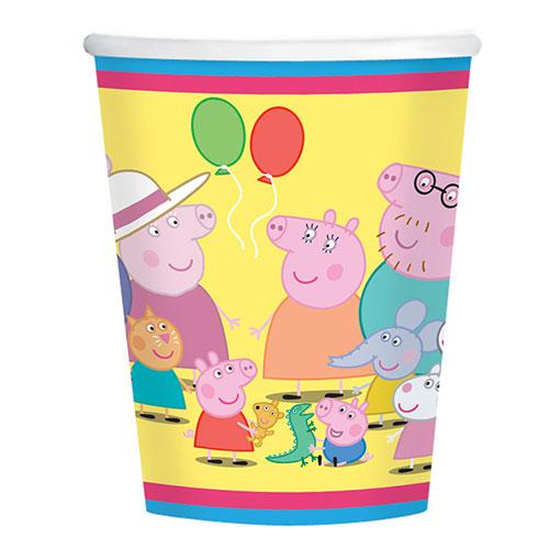 Peppa Pig Paper Cups 266ml - Pack of 8