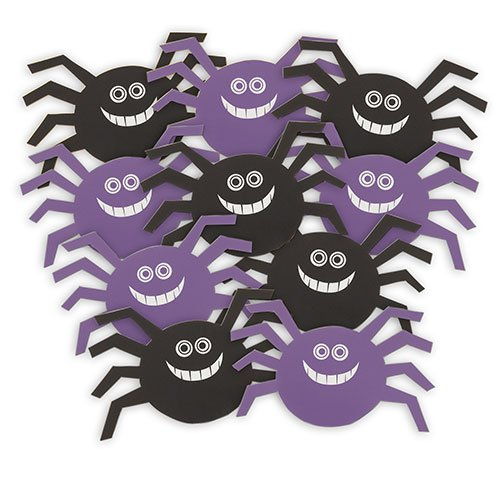 Smiley Spider Decorative Cutouts - 5 Inches / 12.5cm - Pack of 10 Product Image