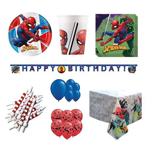 Spider-Man 16 Person Deluxe Party Pack