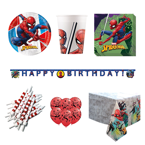 Spider-Man 8 Person Deluxe Party Pack