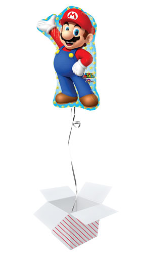 Super Mario Helium Foil Giant Balloon - Inflated Balloon in a Box