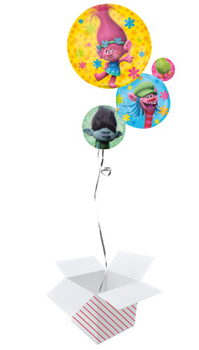 Trolls Stack Helium Foil Giant Balloon - Inflated Balloon in a Box