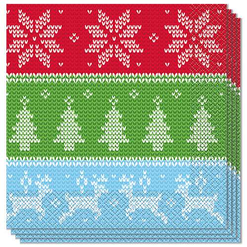 Ugly Sweater Christmas Luncheon Napkins 33cm 2Ply - Pack of 16