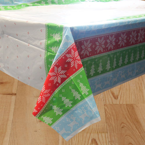 Ugly Sweater Christmas Plastic Tablecover 213cm x 137cm