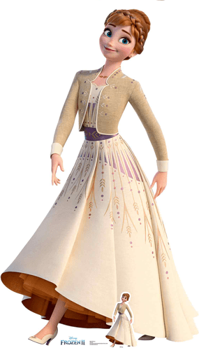 Anna Cream Dress Disney Frozen 2 Lifesize Cardboard Cutout 164cm Product Gallery Image
