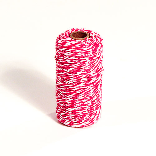 Arts & Crafts Pink & White Decorative Twine 100m Product Image
