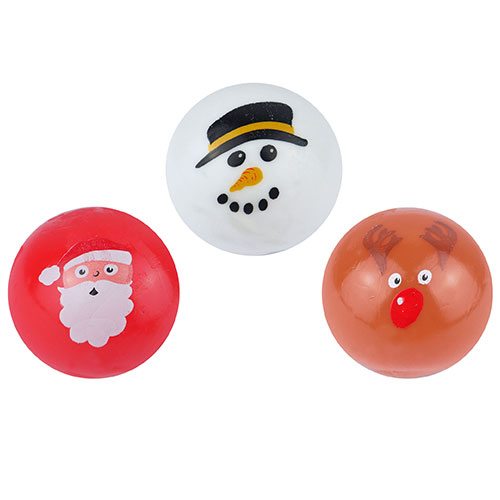Assorted Ball Splat Christmas Toy 6cm
