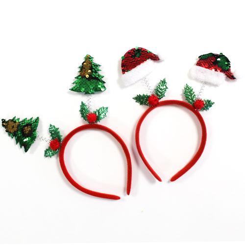 Assorted Sequin Christmas Icons Headband Fancy Dress