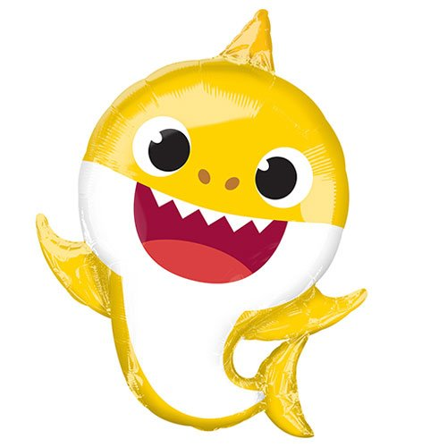 Baby Shark Supershape Helium Foil Balloon 66cm / 26 in Product Gallery Image