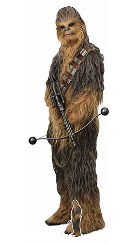 Chewbacca Star Wars The Rise of Skywalker Mega Lifesize Cardboard Cutout 231cm Product Gallery Image