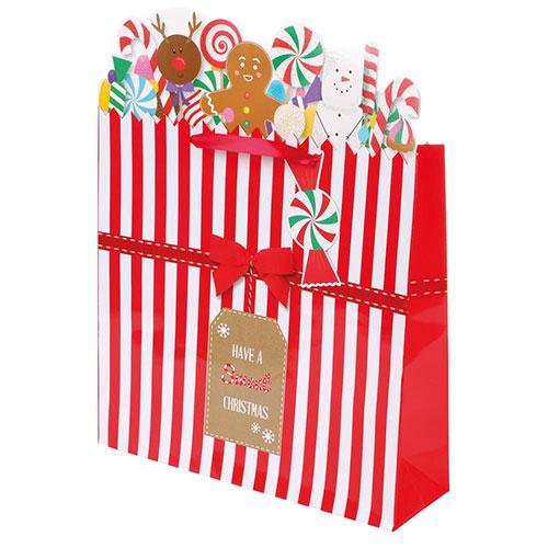 Christmas Sweet Shop Large Gift Bag 42cm