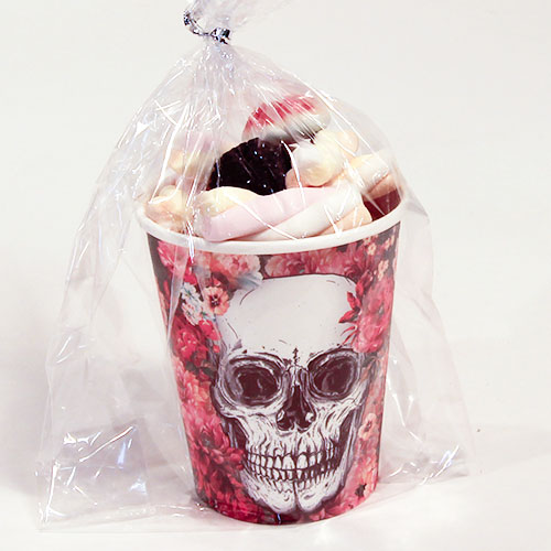 Day Of The Dead Flowers Halloween Candy Cup 165g