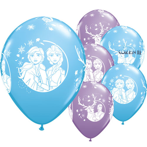 Disney Frozen 2 Assorted Latex Helium Qualatex Balloons 28cm / 11 in - Pack of 25