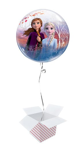 Disney Frozen 2 Bubble Helium Qualatex Balloon - Inflated Balloon in a Box Product Image