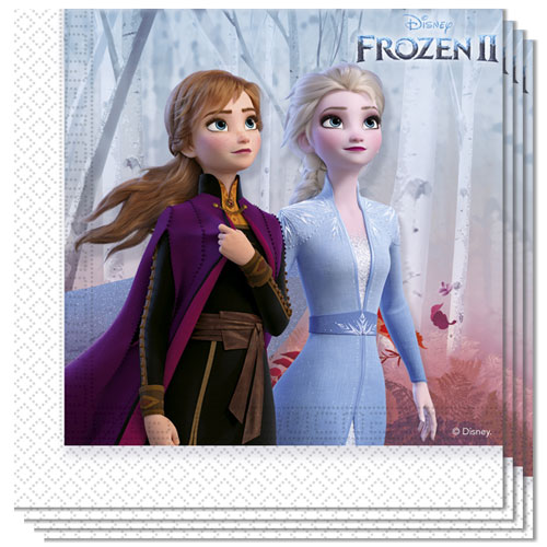 Disney Frozen 2 Luncheon Napkins 33cm 2Ply - Pack of 20 Bundle Product Image