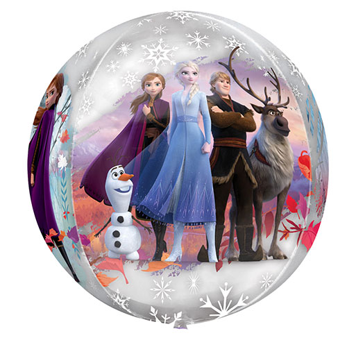 Disney Frozen 2 See-Thru Orbz Foil Helium Balloon 38cm / 15 in