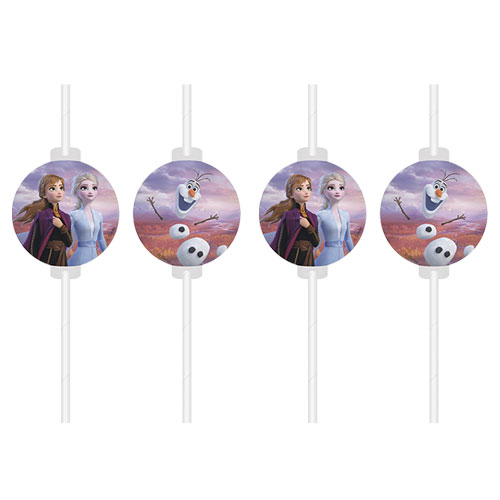 Disney Frozen 2 Paper Drinking Straws - Pack of 4 Product Image