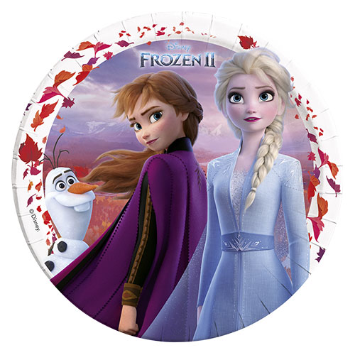 Disney Frozen 2 Round Paper Plates 23cm - Pack of 8