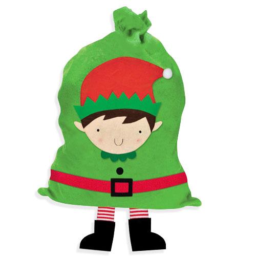 Elf With Legs Christmas Sack 92cm