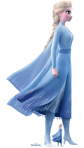 Elsa Magical Powers Disney Frozen 2 Lifesize Cardboard Cutout 183cm Product Image