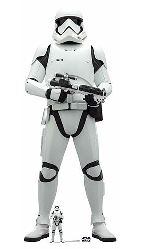First Order Stormtrooper Star Wars The Rise of Skywalker Lifesize Cardboard Cutout 182cm Product Gallery Image