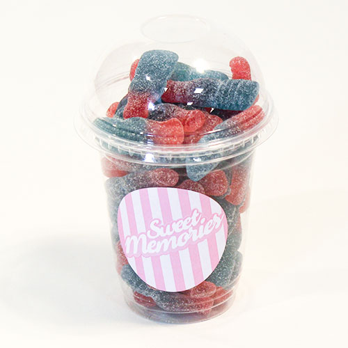 Haribo Bubblegum Bottles Zing Fizzy Fruit Flavour Jelly Sweet - 12oz