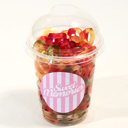 Haribo Mini Friendship Rings Fruit Flavour Jelly Sweets- 12 oz