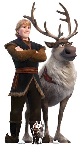 Kristoff And Sven Disney Frozen 2 Lifesize Cardboard Cutout 195cm