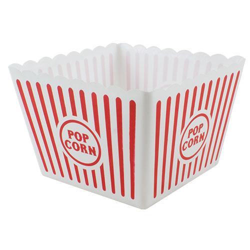 Large Plastic Popcorn Bowl 21cm